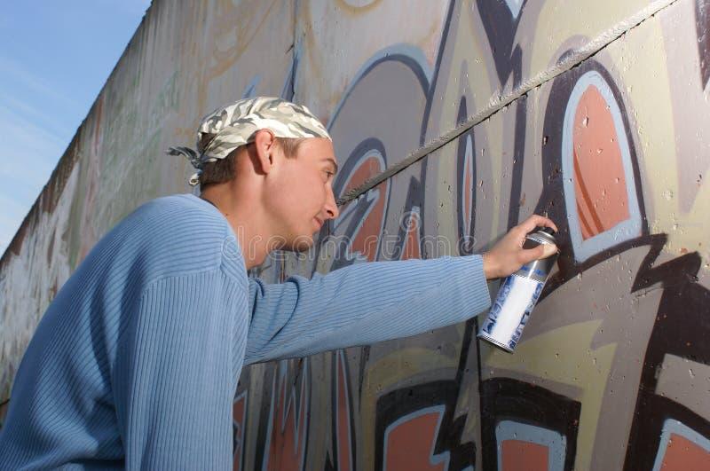 Graffity Maler stockfotografie