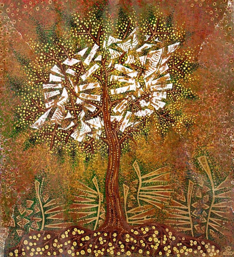 Download Grafic art  tree stock illustration. Image of painted - 23437232