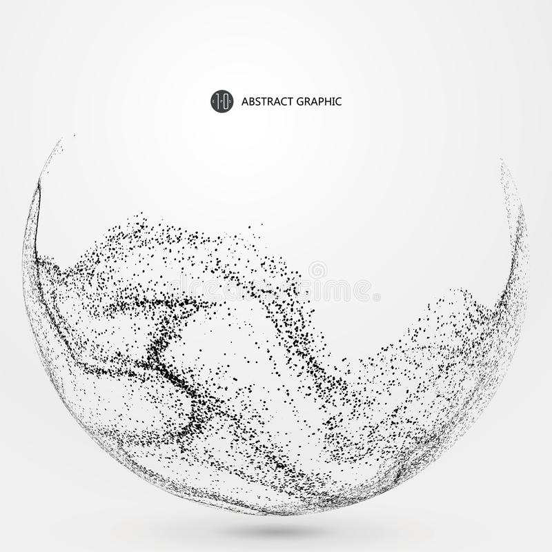 Grafici astratti irregolari, composizione dinamica nella particella illustrazione vettoriale