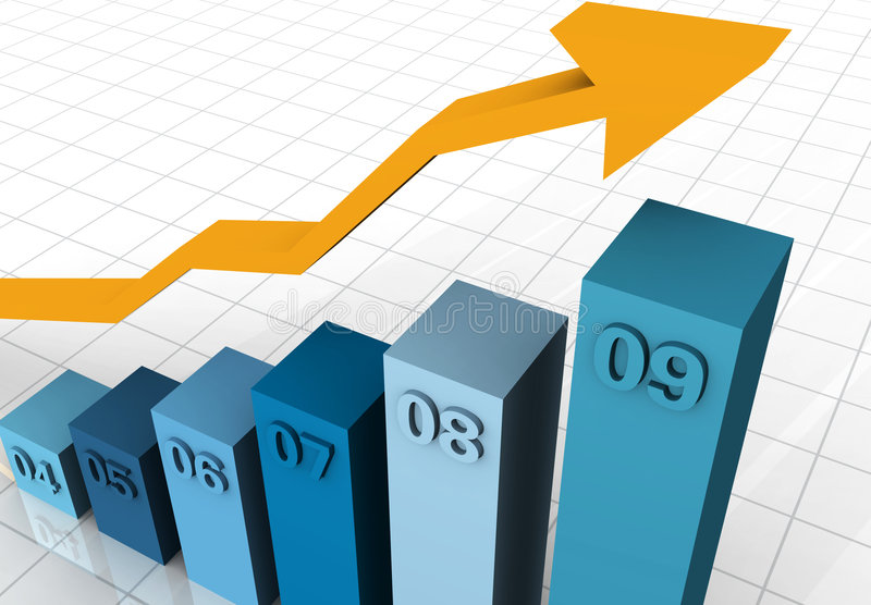 Grafici commerciale 2004 - 2009 illustrazione di stock