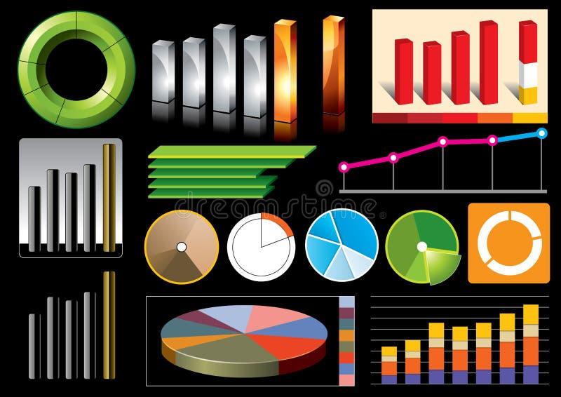 Grafici commerciali di vettore illustrazione di stock