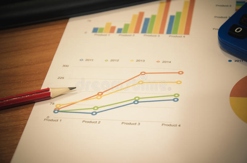 grafici dei documenti di affari immagini stock libere da diritti