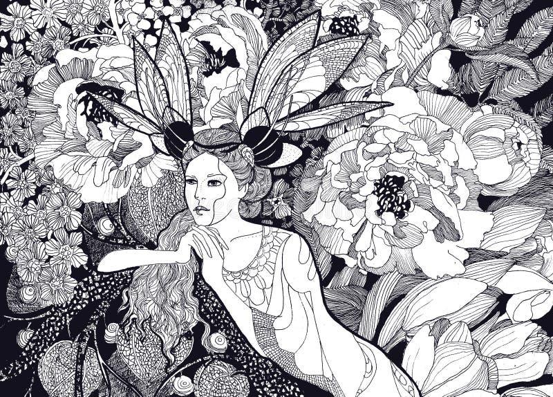 Grafici del fatato del fiore royalty illustrazione gratis