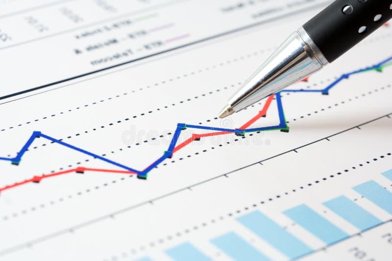 Grafici del mercato azionario. immagine stock