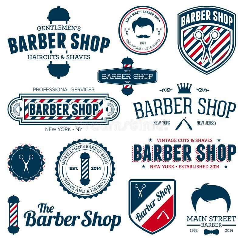 Grafici del negozio di barbiere illustrazione di stock