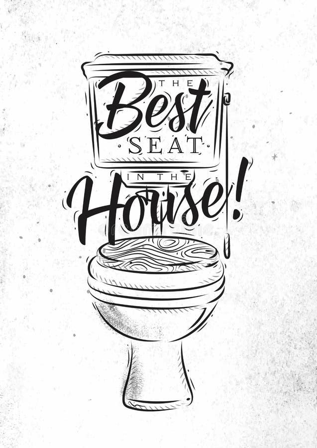 Grafici della toilette retro royalty illustrazione gratis