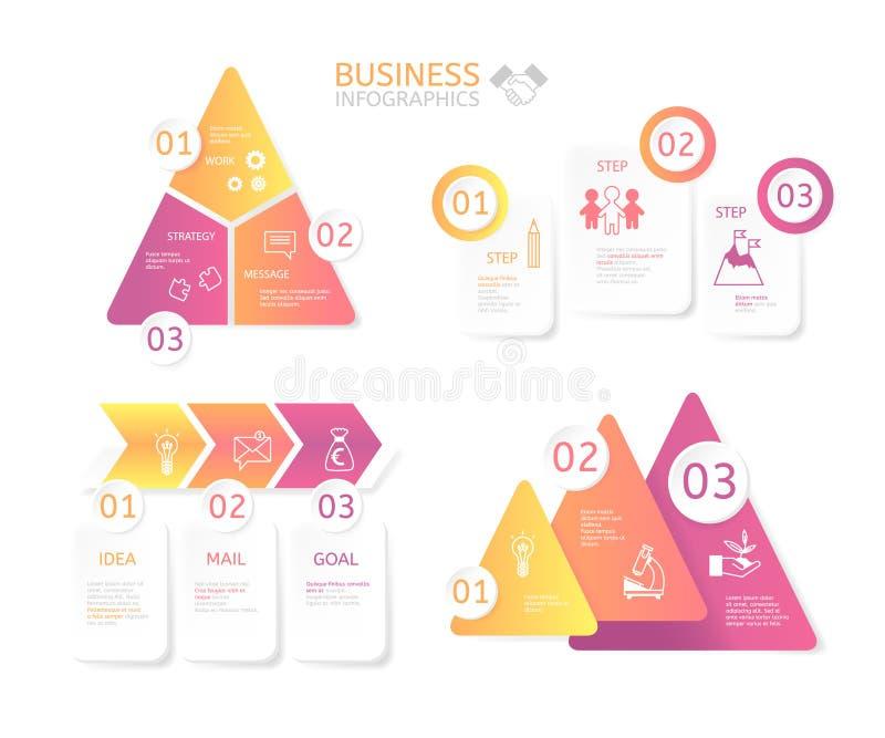 Grafici di affari per varie illustrazioni immagini stock libere da diritti