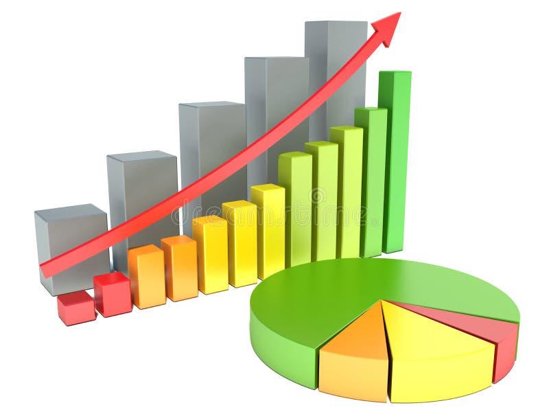 Grafici di analisi finanziaria illustrazione vettoriale