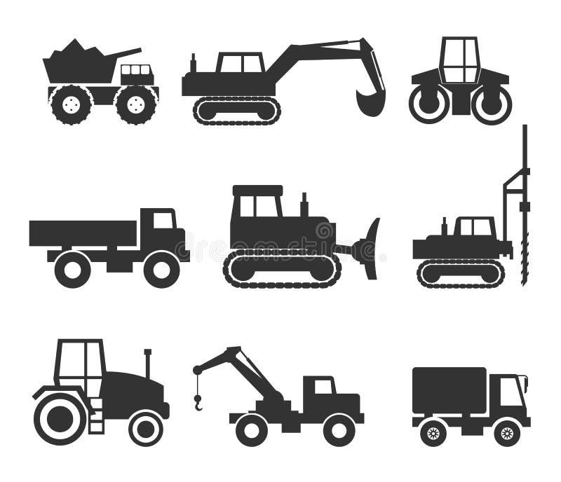 Grafici di simbolo dell'icona del macchinario di costruzione illustrazione vettoriale