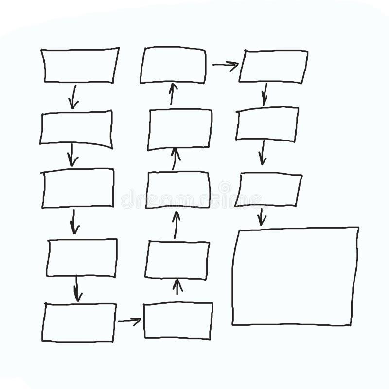Grafici disegnati a mano o simboli del diagramma per introdurre informazioni concentrate illustrazione vettoriale