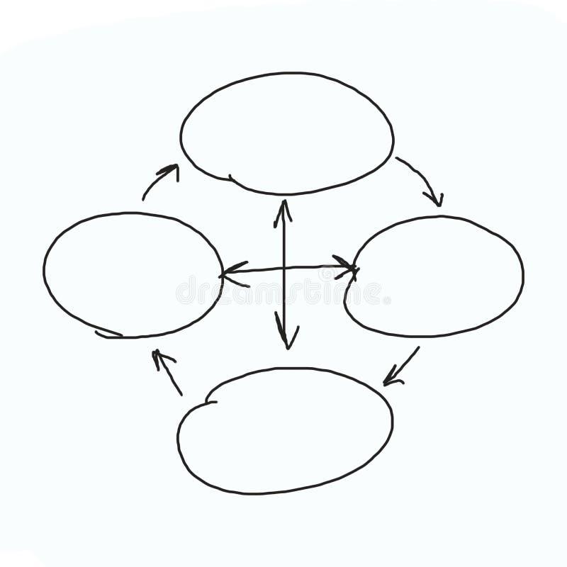 Grafici disegnati a mano o simboli del diagramma per introdurre informazioni concentrate fotografia stock