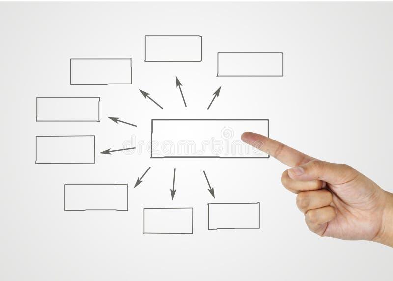 Grafici disegnati a mano o simboli del diagramma per introdurre informazioni concentrate immagini stock libere da diritti