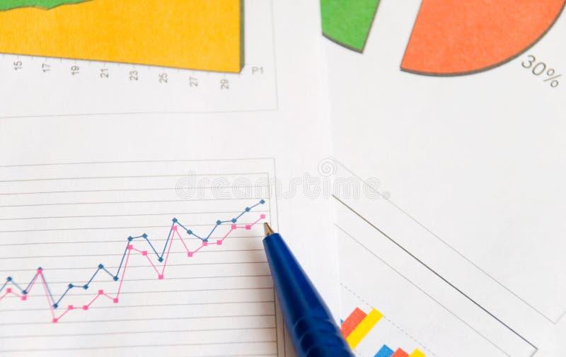 Grafici e diagrammi fotografia stock