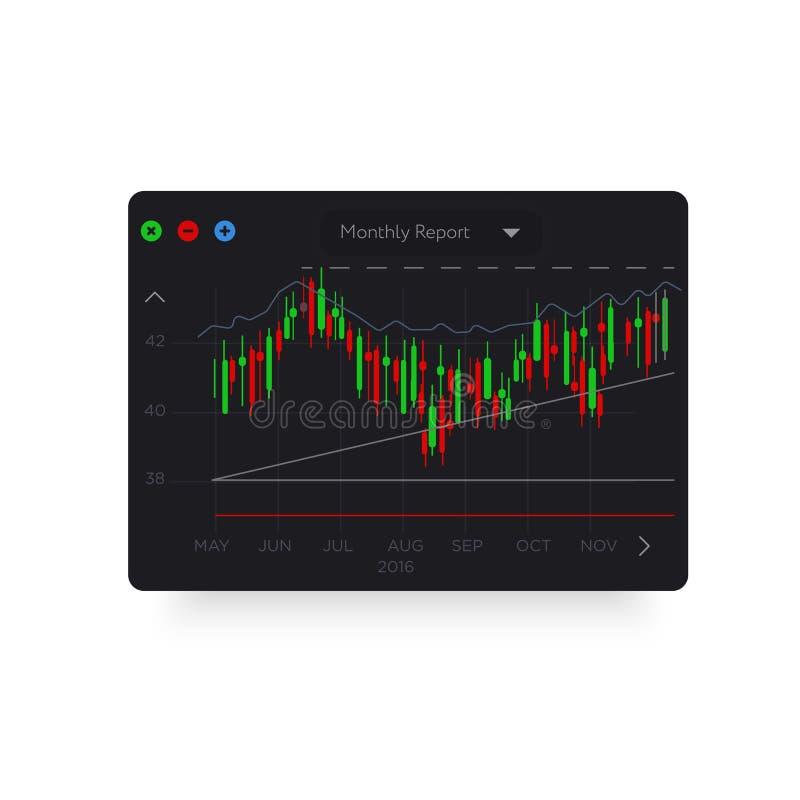 Grafico analitico colorato d'avanguardia illustrazione di stock