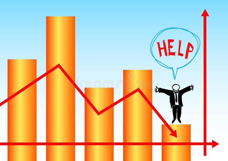 Grafico arancione illustrazione di stock