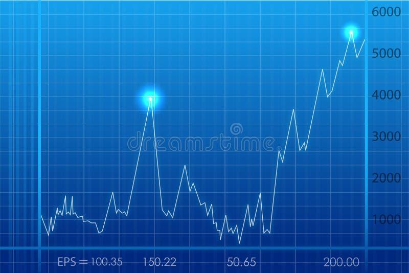 Grafico astratto di sviluppo di affari illustrazione vettoriale