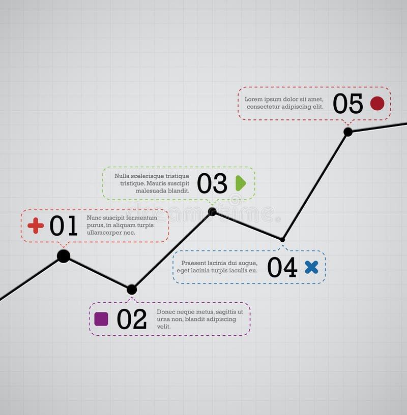Grafico in aumento illustrazione di stock