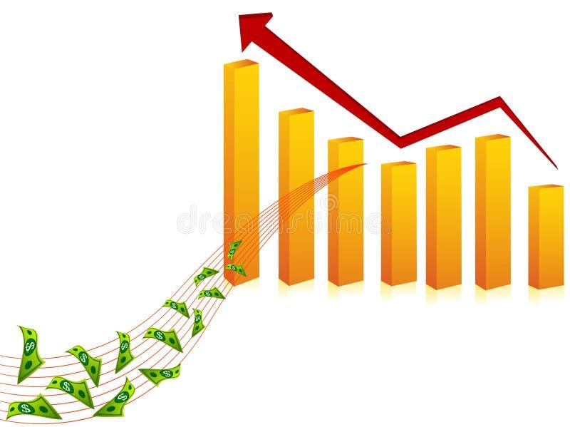 Grafico in aumento di finanza immagine stock