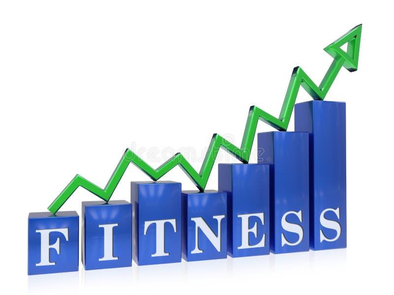Grafico in aumento di forma fisica illustrazione di stock