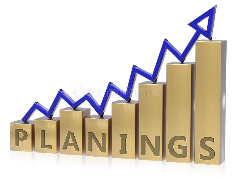 Grafico in aumento di pianificazioni illustrazione di stock