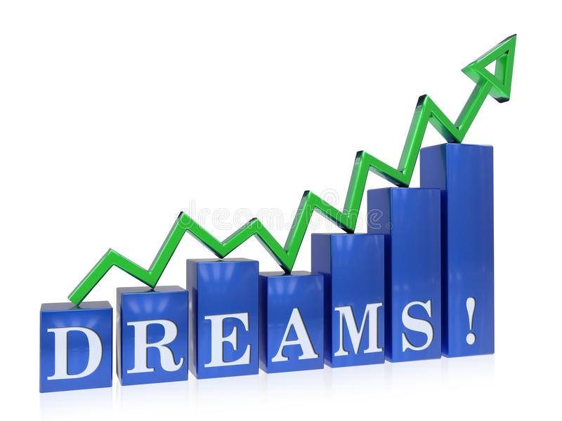 Grafico in aumento di sogni illustrazione di stock