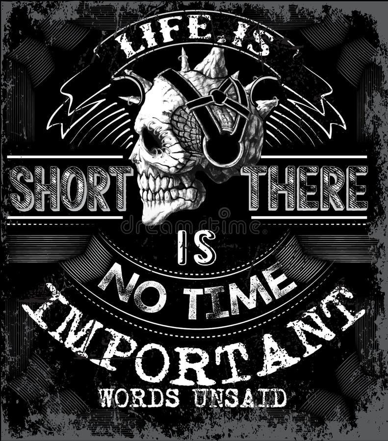 Grafico in bianco e nero di slogan astratto per gli usi di modo royalty illustrazione gratis