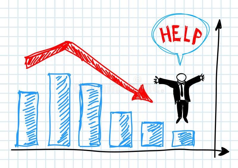 Grafico blu illustrazione di stock