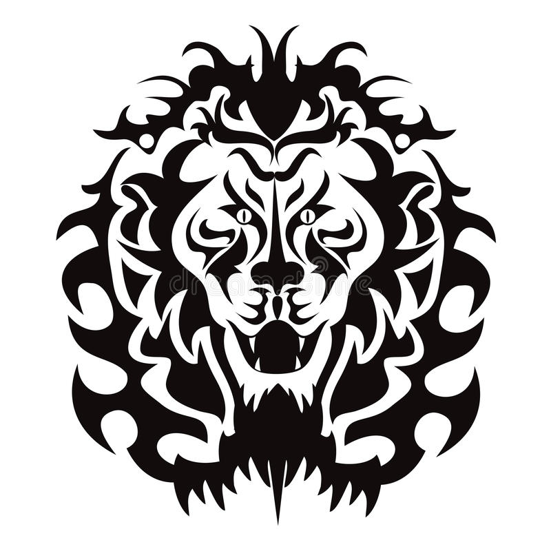Grafico capo del leone illustrazione di stock
