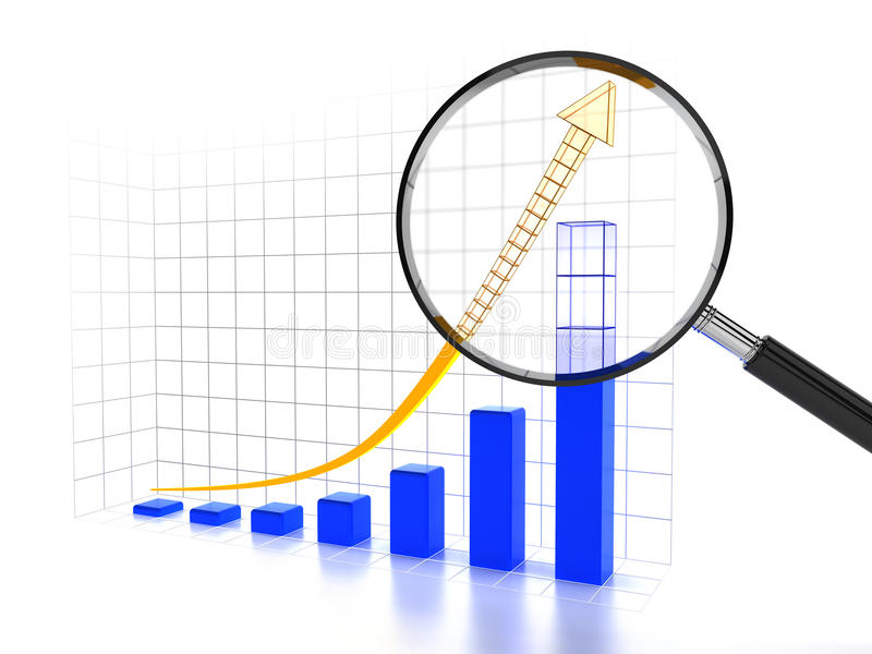 Grafico che mostra tendenza in aumento futura illustrazione di stock