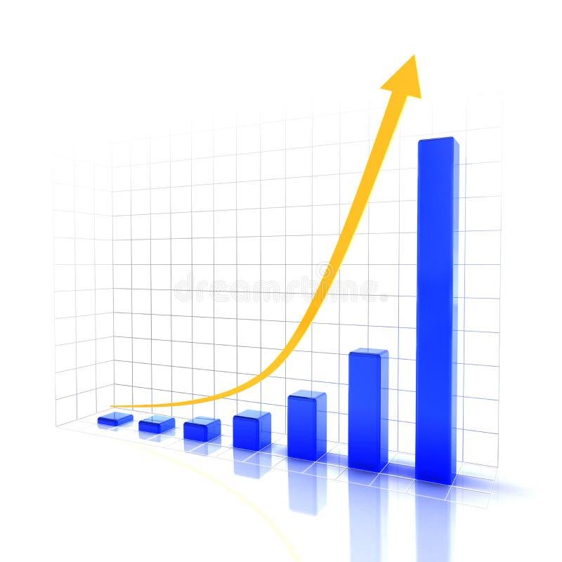 Grafico che mostra tendenza in aumento futura royalty illustrazione gratis