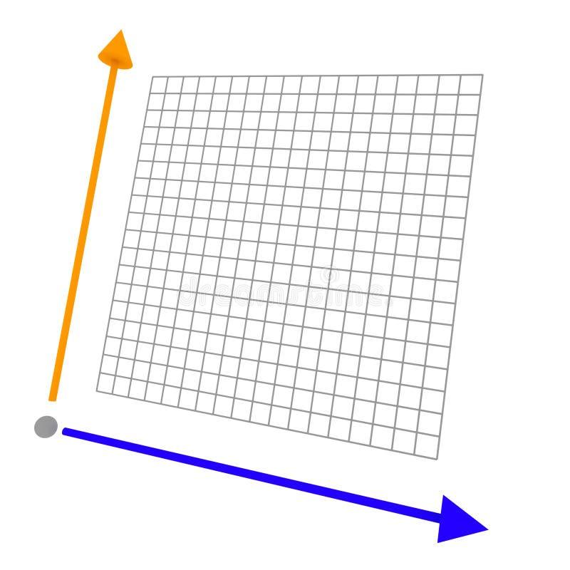 Grafico colorato 3d con la griglia royalty illustrazione gratis