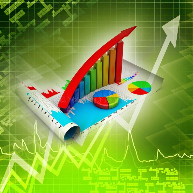 Grafico commerciale che va su illustrazione vettoriale