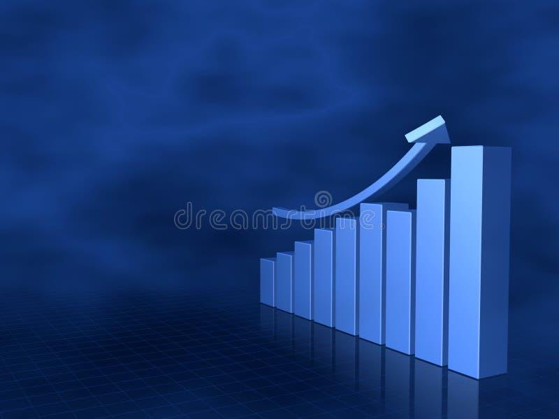 Grafico commerciale con la freccia alta royalty illustrazione gratis