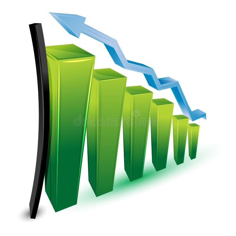 Grafico commerciale crescente illustrazione vettoriale