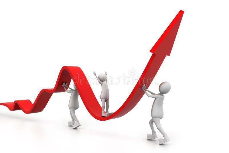 Grafico commerciale crescente con la gente royalty illustrazione gratis