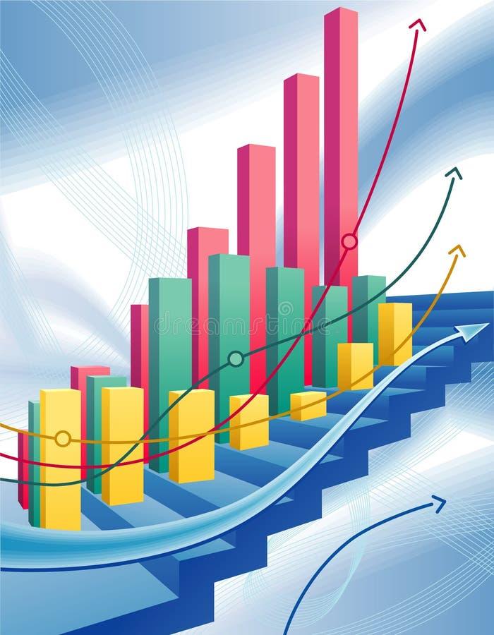 Grafico commerciale di affari astratti illustrazione di stock