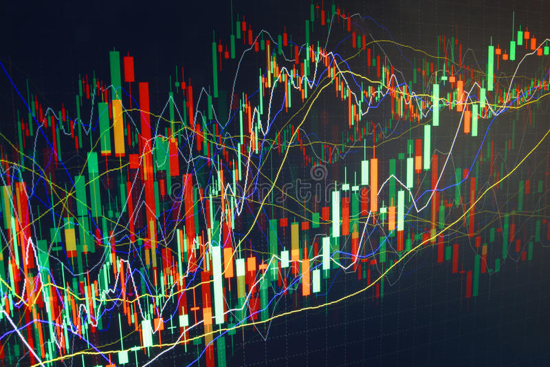 Grafico commerciale di finanza. Guadagni e coltivi i soldi illustrazione di stock