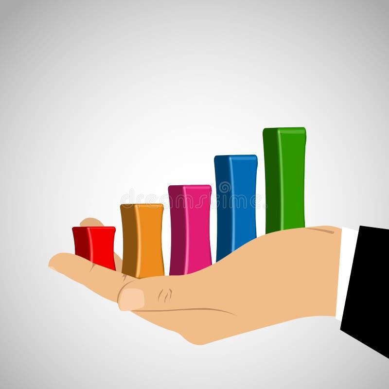 Grafico commerciale disponibile illustrazione di stock