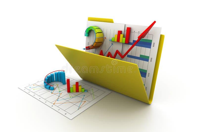 Grafico commerciale in dispositivo di piegatura illustrazione di stock