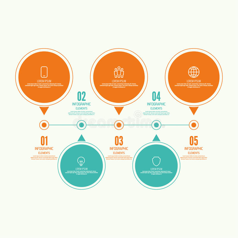Grafico comparativo con l'insegna illustrazione vettoriale