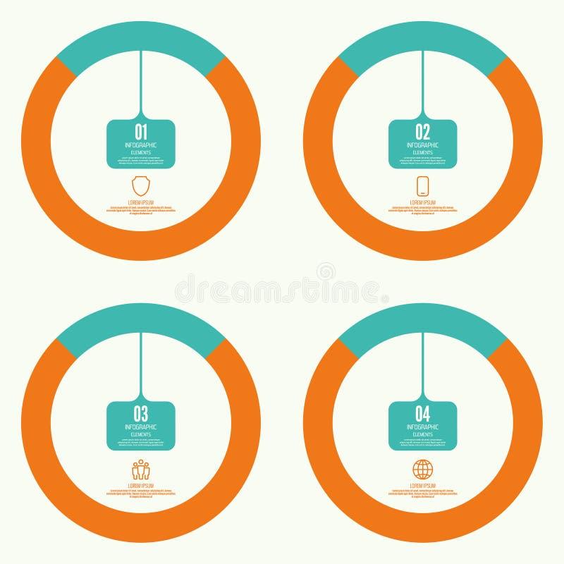 Grafico comparativo con l'insegna illustrazione di stock