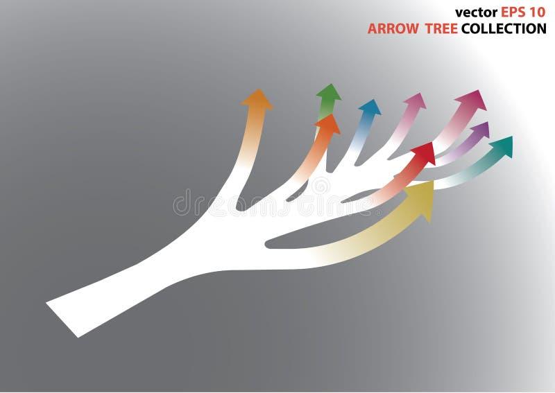 Grafico completo della freccia di colore illustrazione di stock