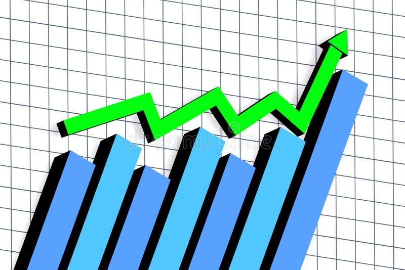 Grafico con la freccia illustrazione di stock