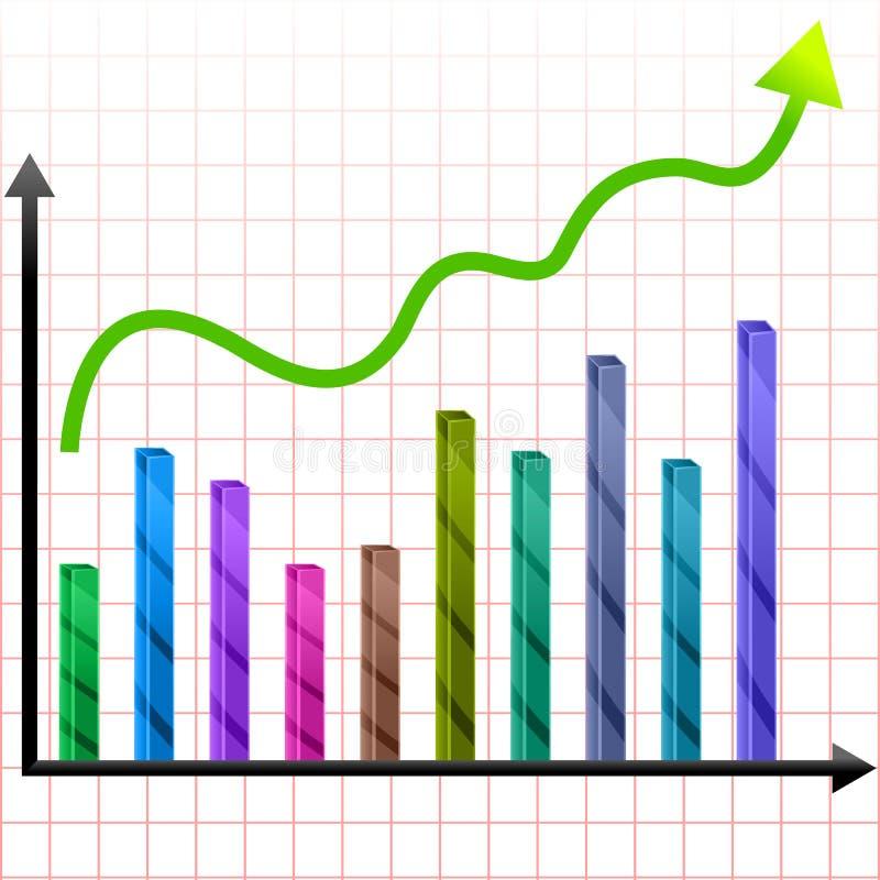 Grafico crescente illustrazione vettoriale