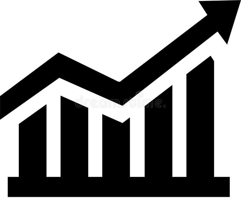 Grafico crescente di vendite illustrazione di stock