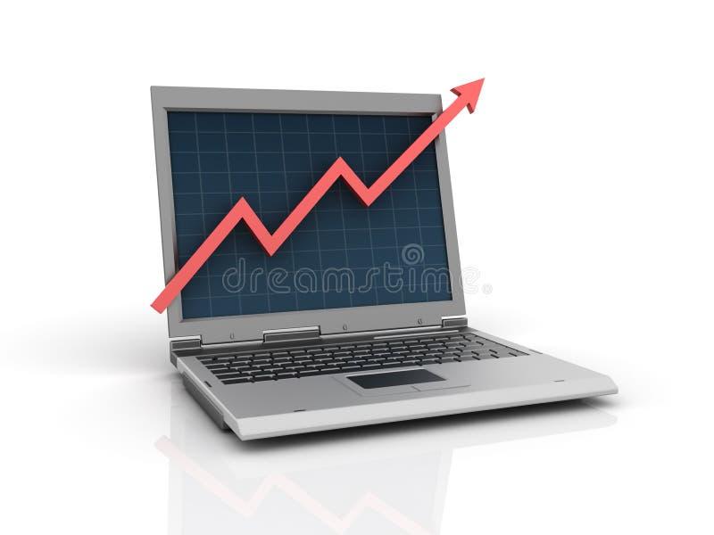 Grafico del computer portatile illustrazione vettoriale