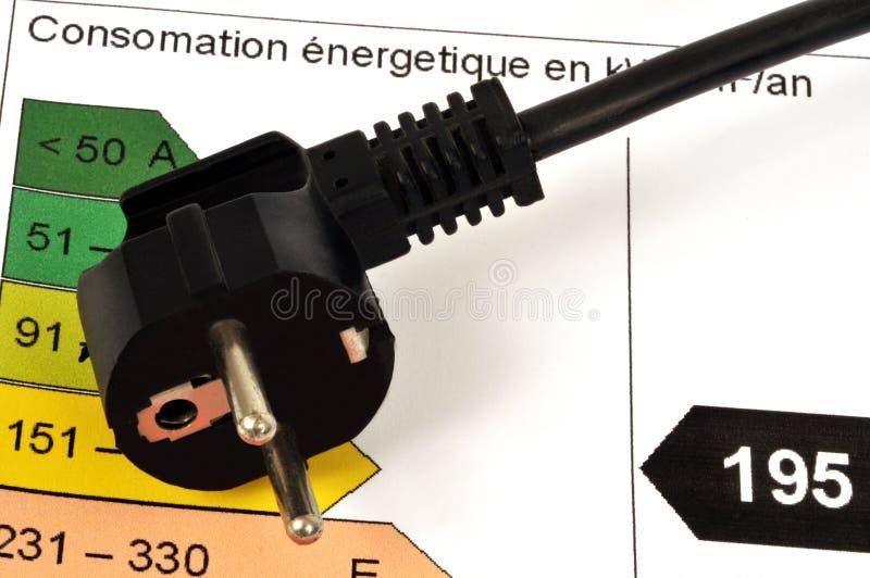 Grafico del consumo di energia fotografia stock
