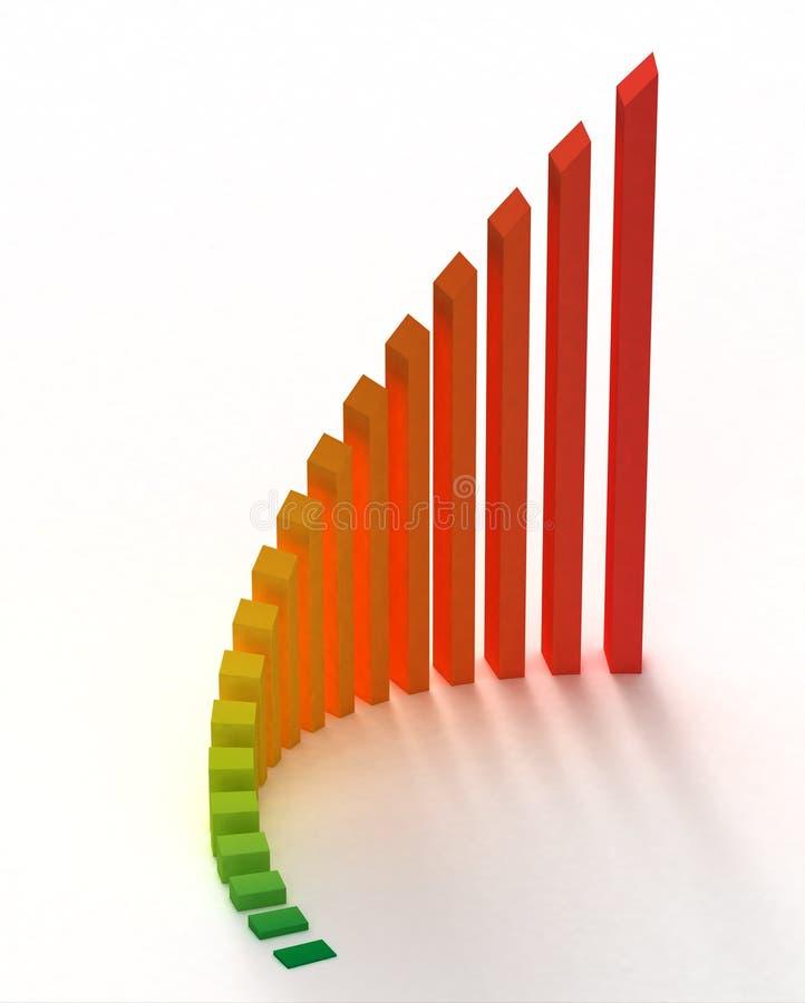 Grafico del diagramma a colonna colorato illustrazione vettoriale