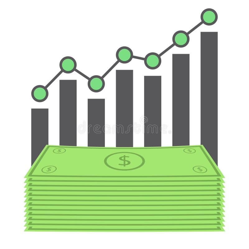 Grafico del dollaro di affari illustrazione vettoriale