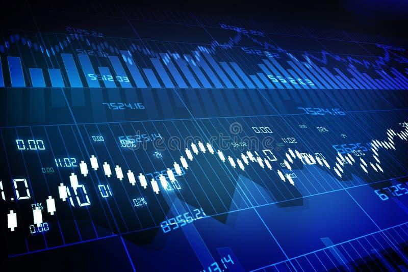 Grafico del mercato azionario illustrazione vettoriale